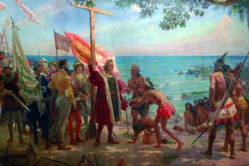 Primer homenaje a Colón - José Garnelo y Alda