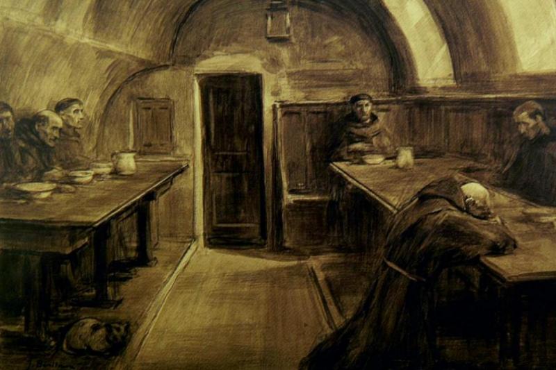 Refectorio del convento. José Benlliure Gil (1926) Propiedad Orden Franciscana (Valencia)