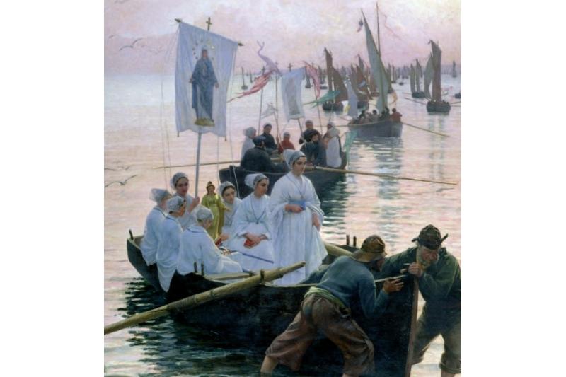 Regreso del perdón de Santa Ana de Fouesnant a Concarneau. Alfred Guillou, 1887