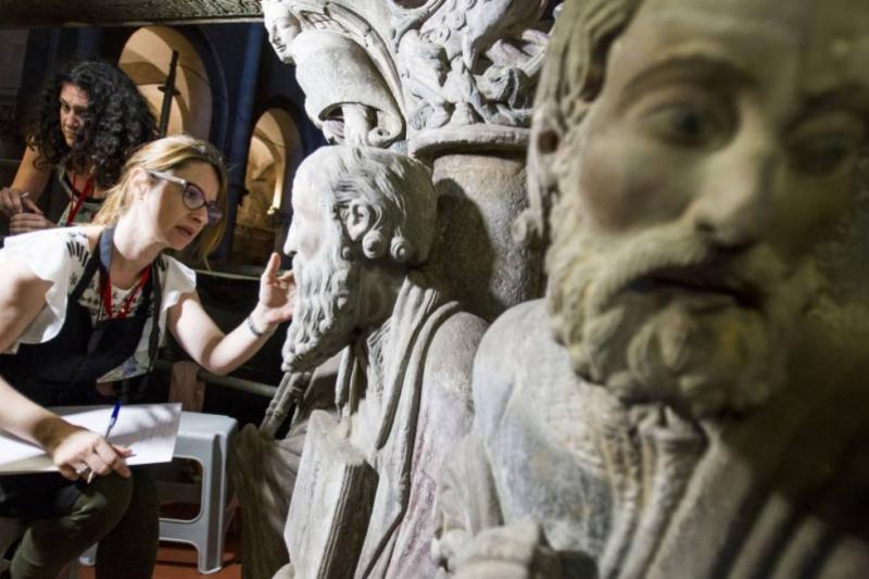 Restauración del Pórtico de la Gloria. Santiago de Compostela