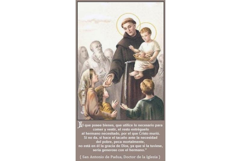 """San Antonio de Padua y """"el pan de los pobres"""""""