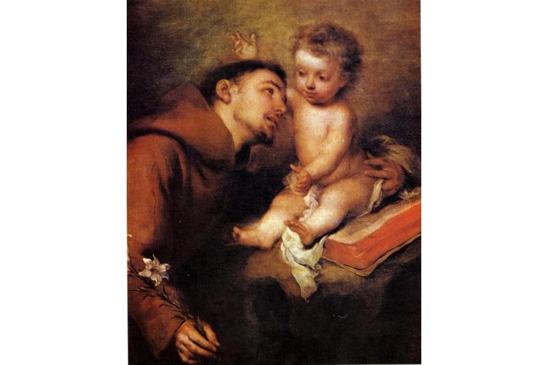 San Antonio y el Niño Jesús