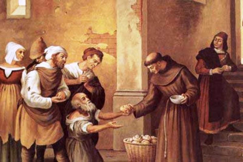 San Antonio de Padua y los pobres. Vivió pobre y amó a los pobres en este mundo