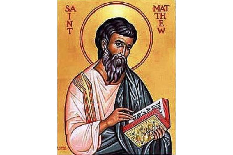San Mateo. Apóstol y Evangelista - 21 de Septiembre
