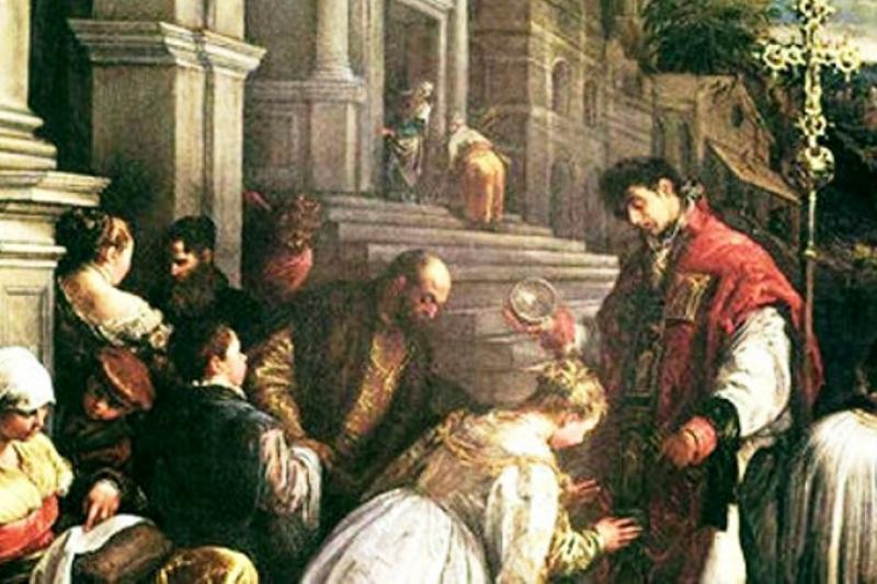 San Valentín bautizando a Santa Lucía - 14 de Febrero