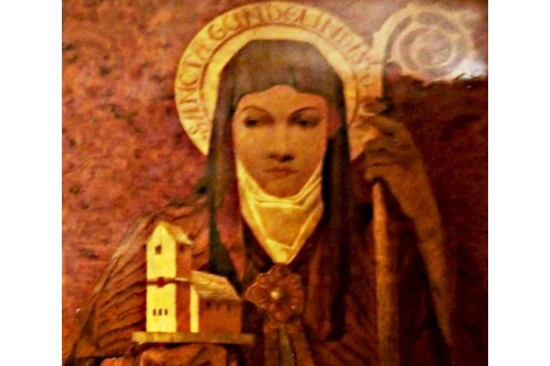 Santa Gundelina. Abadesa - 28 de Marzo. S. VIII