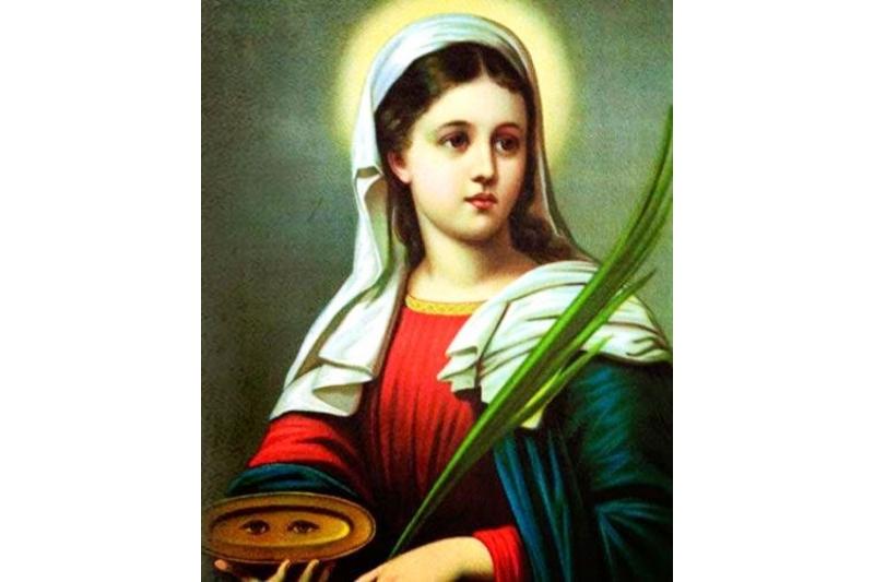 Santa Lucía, Vírgen y Mártir. Abogada de la buena vista
