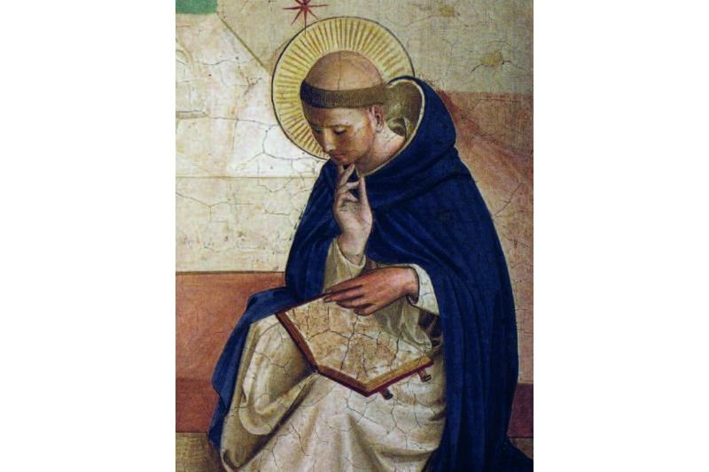 Santo Domingo. Fresco, Cristo ultrajado. Fray Angélico, hacia 1440-1442. Celda 7 Convento San Marcos, Florencia, Italia