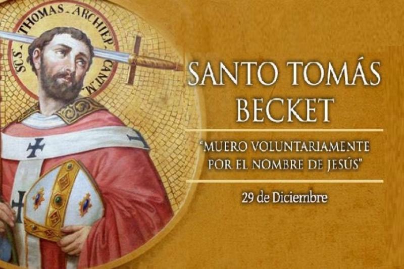 Santo Tomás Becket de Canterbury - 29 de Diciembre