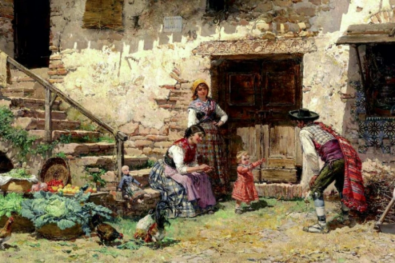 ¡Ven con papá! Mariano Barbasán Lagueruela 1897. Colección Particular