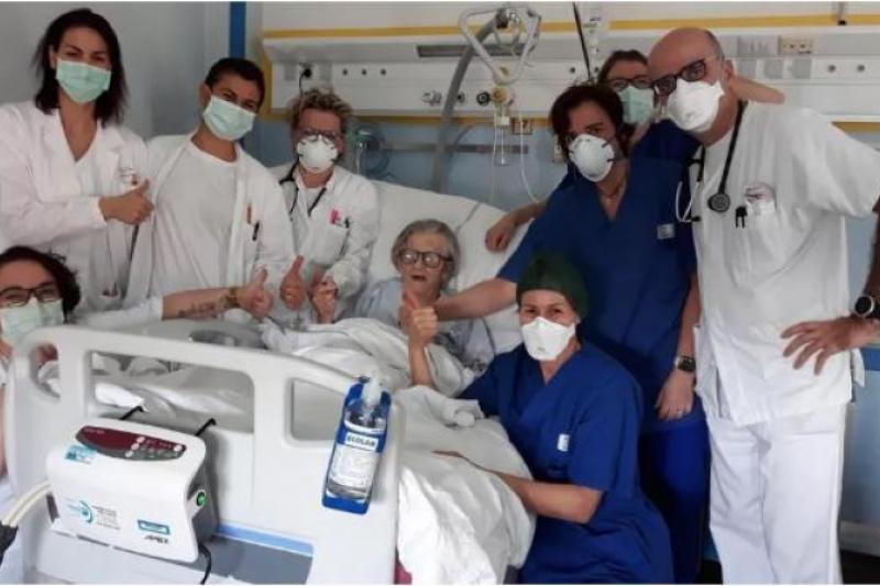 Alma Clara Corsini, 95 años, vence al coronavirus y se convierte en el símbolo de Italia, 95 años, vence al coronavirus y se convierte en el símbolo de Italia
