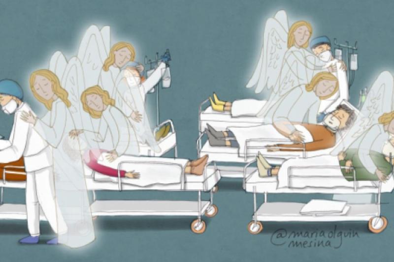 """Coronavirus: Dios le pidió dibujar """"por los hospitales, los ..."""