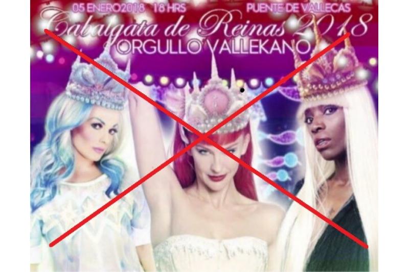 Retiran las reinas magas drag queen de la cabalgata de Vallecas