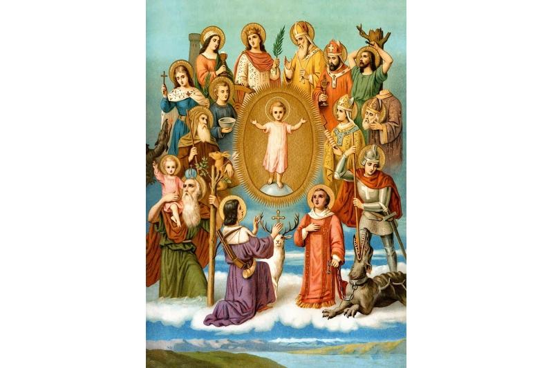 Devoción a los 14 Santos intercesores a quienes se encomendaban los fieles en tiempo de peste