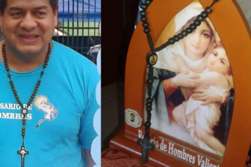 El hombre que sobrevivió a un balazo en el pecho gracias a su rosario