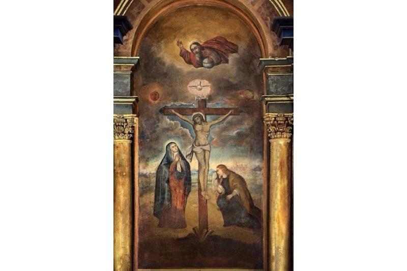 La pintura de Jesús que sobrevive al paso de terremotos