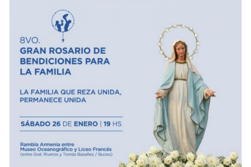 Uruguay: Gran Rosario de Bendiciones para la familia en Montevideo