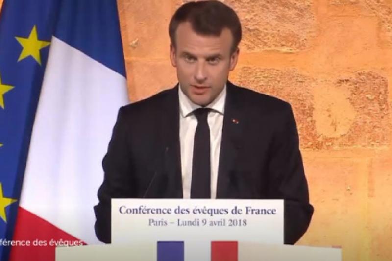 Histórico discurso de Emmanuel Macron ante los Obispos franceses