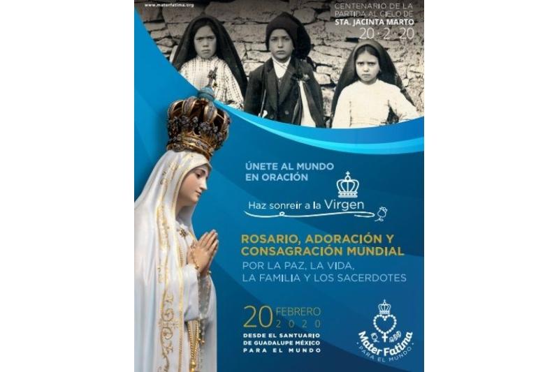 Rosario mundial convocado por Mater Fátima para el 20 de febrero de 2020