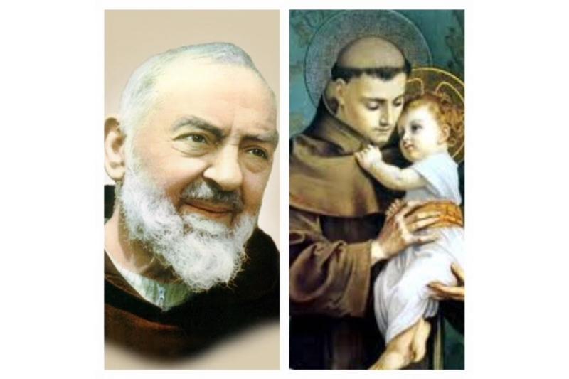 San Antonio de Padua y San Pío unidos por su devoción al Niño Jesús