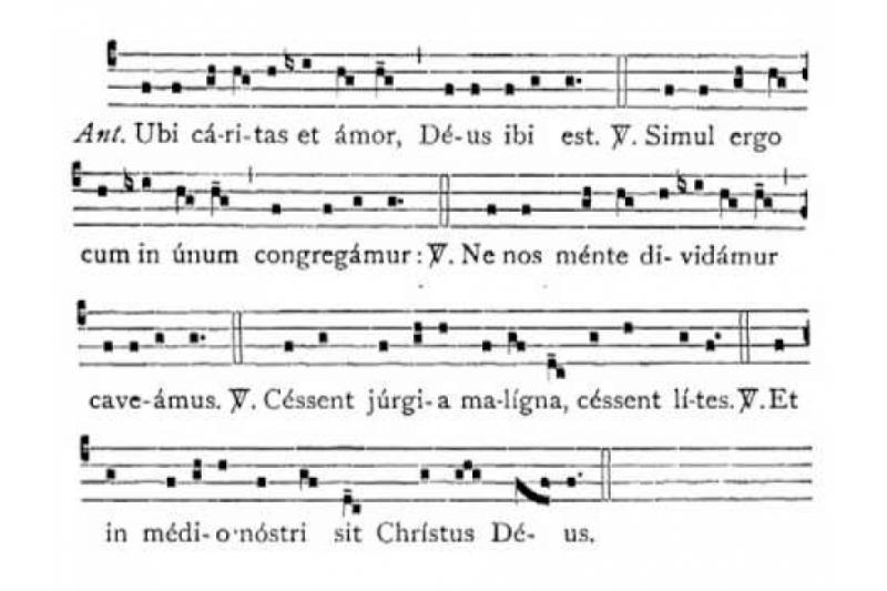 Ubi Caritas, bello canto gregoriano