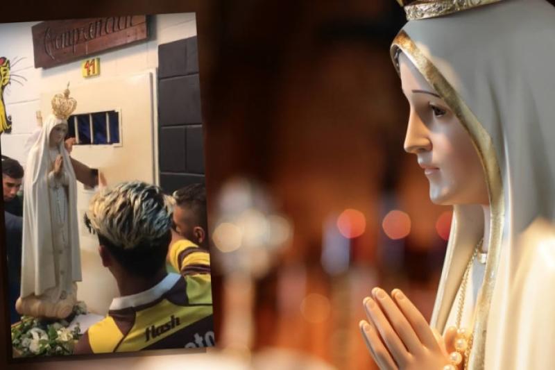 La visita de la Virgen de Fátima a una cárcel argentina y la emocionante reacción de los presos