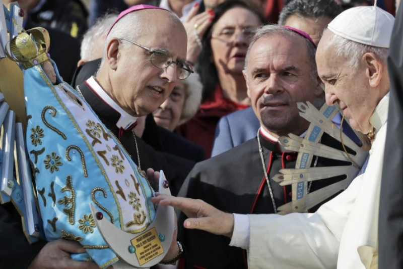 La Virgen de las Malvinas vuelve a Argentina
