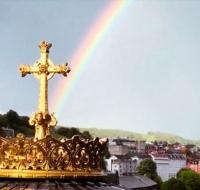 Arcoíris decoró el cielo de Lourdes en el día de la Anunciación