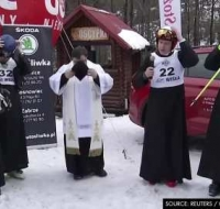 Los curas esquiadores de la sotana