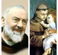 San Padre Pio y San Antonio de Padua