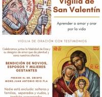 Vigilia de San Valentín: aprender a amar y orar por la vida