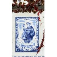 San Antonio de Padua. Azulejo caserio de Lujua, Vizcaya
