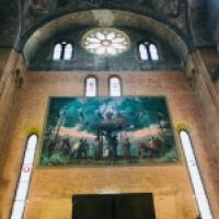 San Antonio de Padua predicando. Cuadro sito en l aBasílica de San Antonio de Padua, Italia