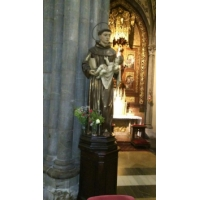 San Antonio de Padua. Iglesia de Santo Tomás de Canterbury, Avilés, Asturias