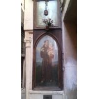 San Antonio de Padua. Mural en una calle de Venecia, Italia
