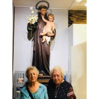 San Antonio de Padua. Peregrinas visitando oficinas de El Pan de los Pobres, Bilbao