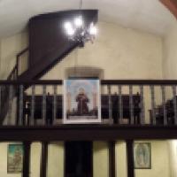 San Antonio de Padua. Cartel en La Riela de Covadonga, Asturias