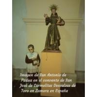 San Antonio de Padua. Convento de San José de Carmelitas Descalzas, Toro, Zamora.