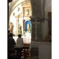 San Antonio de Padua, retablo en San Sebastiásn de Garabandal, Cantabria