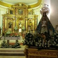San Antonio de Padua y la Virgen. Iglesia Visitación de Nuestra Señora. Zarza de Tajo, Cuenca