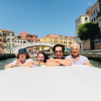 Peregrinos de San Antonio de Padua, Venecia, Italia